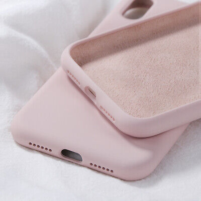 For iPhone 6s 7 8 X XS Max XR Shockproof Liquid Silicone Rubber Soft Case Cover