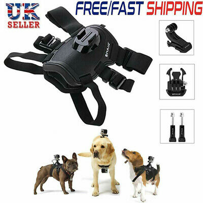 UK Dogs Harness Chest Mount for GoPro Hero 7 6 5 4 3+3 2 1 Session Action Camera