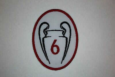 LIVERPOOL -LFC -CHAMPIONS  LEAGUE TIMES 6 TROPHY PATCH (2) Iron on/sew on patch