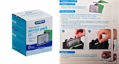 Interpet 3 Month Service Pack for Internal Cartridge Filter, CF1