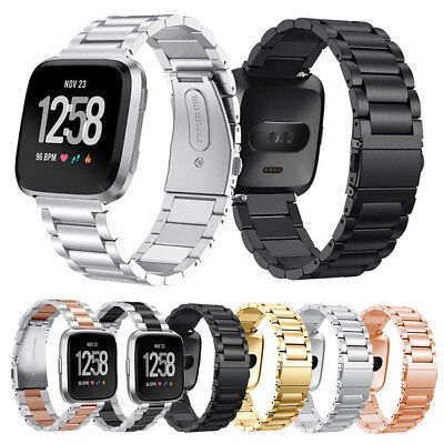 Replacement Stainless Steel Watch Wrist Band Metal Strap For Fitbit Versa / Lite