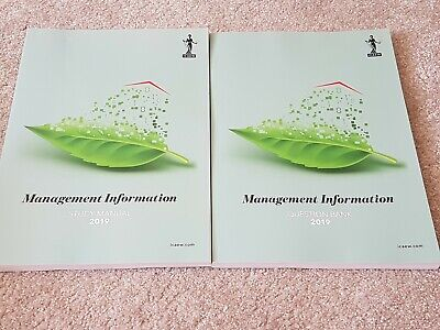 Icaew 2019 Management Information Study & Question Books