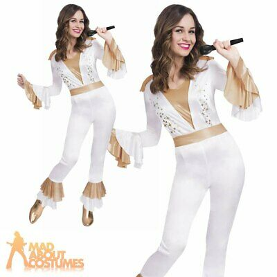 Adult Ladies Disco Queen Costume ABBA Super Trooper 1970s Fancy Dress Outfit