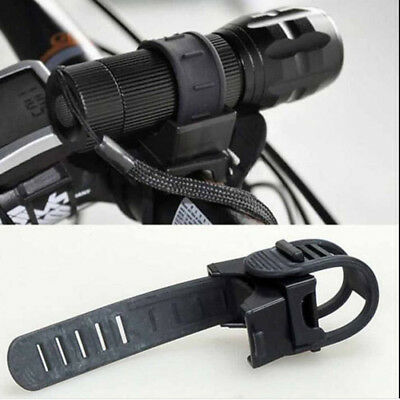 LED Flashlight Torch 360 Degree Bicycle Bike Cycling Mount Holder Clip Clamp LY