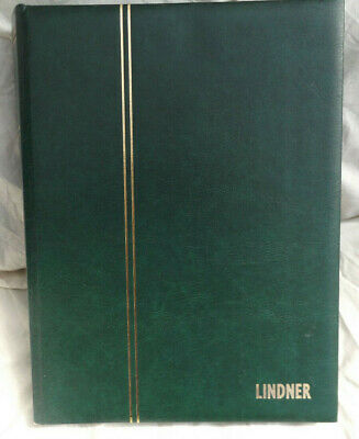 Jy1905 Used Green Lindner Stockbook Stamp Album 30 Pages 60 Sides