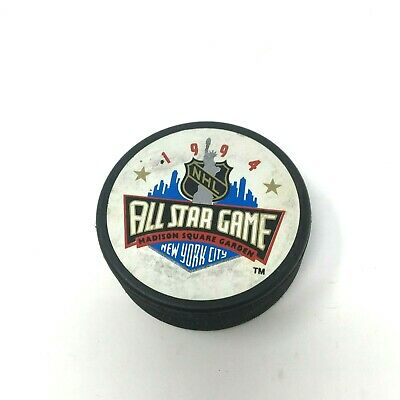 1994 NHL All-Star Game Official Game Puck New York City Vegum Vintage Trench