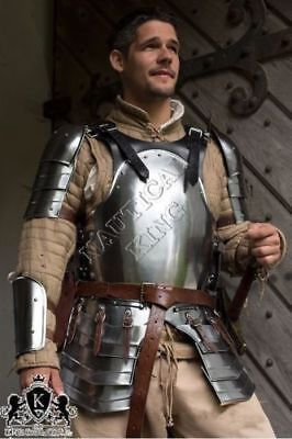 Collectible Medieval Knight Armour Suit Brown Mercenary Larp Armor Steel Replica