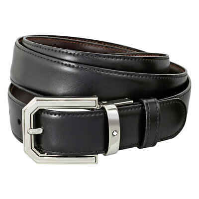 Montblanc Classic Line Reversible Cut-to-Size Belt- Black/Brown 111092