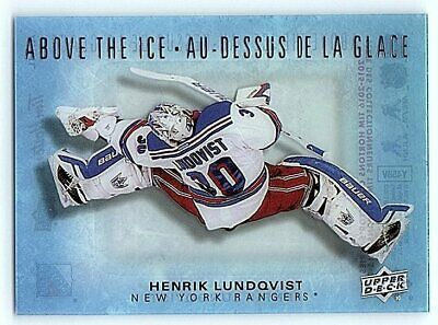 2015-16 UD TIM HORTONS ABOVE THE ICE HENRIK LUNDQVIST Insert Card AI-HL Rare SP