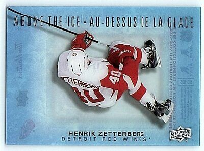 2015-16 UD TIM HORTONS ABOVE THE ICE HENRIK ZETTERBERG Insert Card AI-HZ Rare