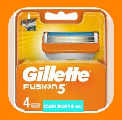 GILLETTE FUSION 5 Razor Blades 4 Pack 100% GENUINE NO FAKES - FAST FREE POSTAGE