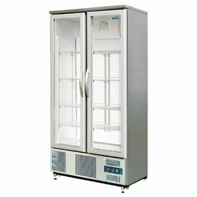 Polar Commercial Display Fridge Double Hinged Door Upright Back Bar Cooler Tall