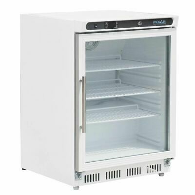 Polar Fridge Glass Door 150L Display Refrigerator Cold Bar Commercial Kitchen