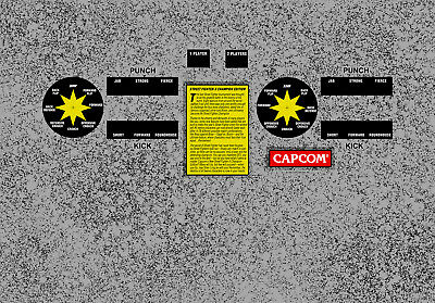 Street Fighter 2 Champion Edition Arcade Control Panel Overlay