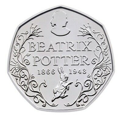 Beatrix Potter 150th Anniversary 50p Coin. 2016 Fifty Pence collectors coin