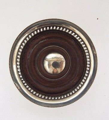 Small Wine Bottle Coaster Victorian Old Sheffield Plate c1880