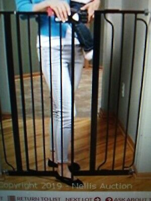 Regalo Easy Step Extra Tall Walk Thru Baby Gate With Extension--Free Ship--New