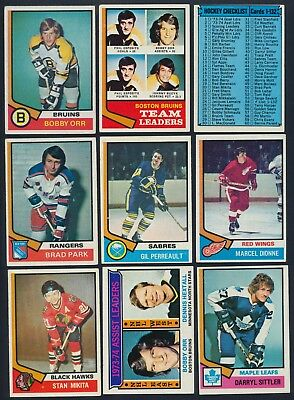 1974-75 Topps Hockey Complete Your Set cards #1-100 (see list) $0.99-5.00