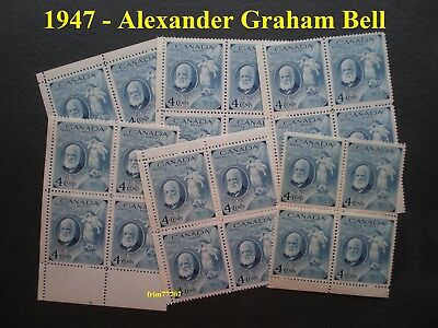 1947 1 Block of A. Graham Bell 4¢ MINT with Full Gum Never Hinged (Scott # 274)