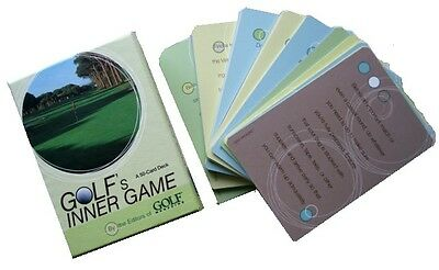 "Golfers Inner Game Cards Giving Hints, Tips To Improve Game ""New"""