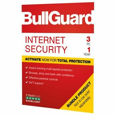 BullGuard Internet Security 2019 Soft Box, 3 User - Windows Only, 1 Year - BG190