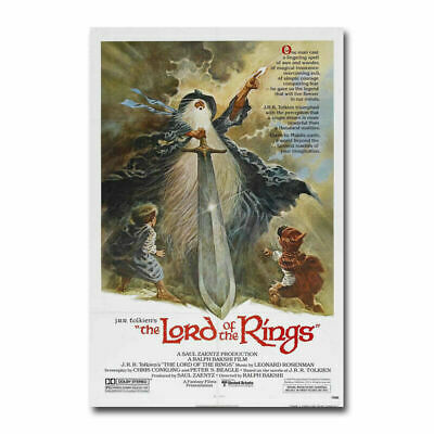 The Lord of the Rings 1978 Old Movie Silk Poster Wall Decoration Print 24x36inch