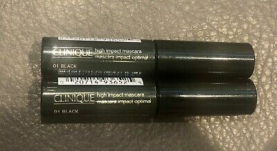 5fc14583d7a 2x Pack Clinique High Impact Mascara 01 Black 3.5ml 0.14 fl.oz. Brand
