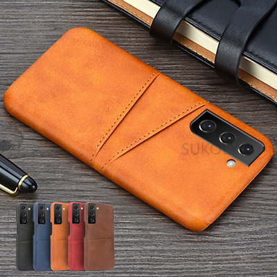 Card Pocket Genuine Leather Case Cover For Samsung Galaxy A70 A50 A30 A7 A9 2018