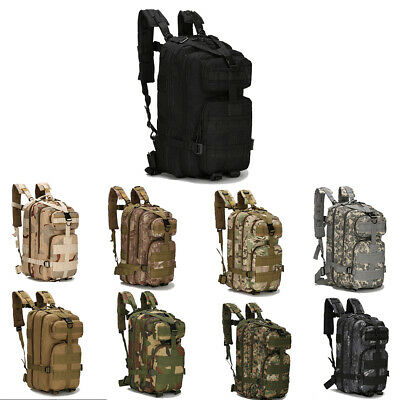 3P Backpack Outdoor Tactical Camouflage Backpack Camping Waterproof Backpack 30L