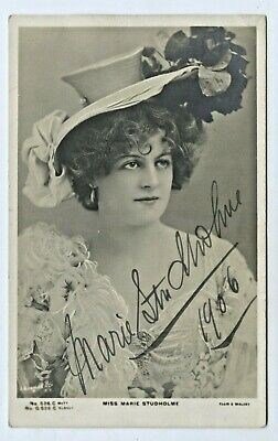 1906 Rp Npu Postcard Signed Marie Studholme Message Donate To Actors' Fund C80