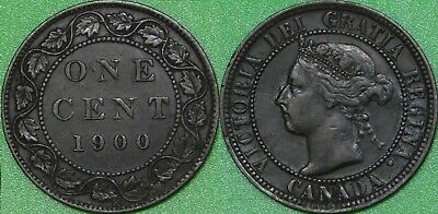1900 Canada (H Mark) Large Penny Graded as Very Fine