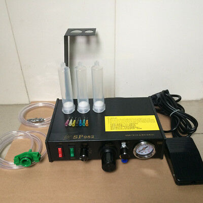 220V Semi-auto UV Glue Dispenser Solder Paste Liquid Controller Dropper Dispense
