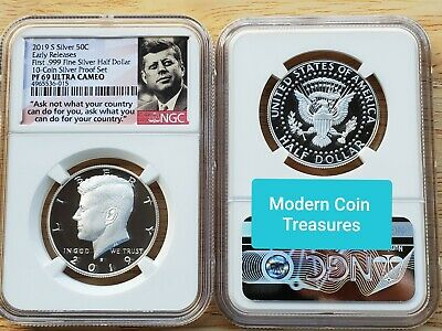 2019-S First 99.9% Silver Kennedy Half Dollar Proof, NGC PF 69 Ultra Cameo!