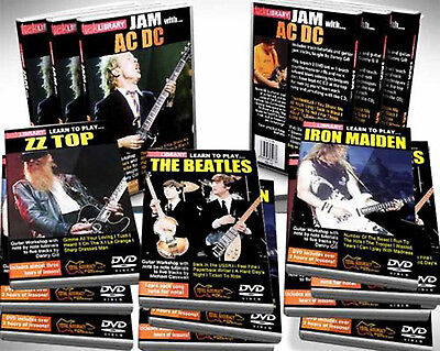 LICK LIBRARY LEARN TO PLAY 10 DVDS TUTORIAL GUITAR BOXSET new hot