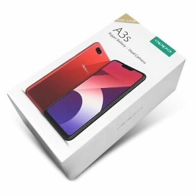 📱OPPO Authentic A3s Sealed Red/Purple Unlocked Smartphone 13MP+2MP Dual SIM 🤳