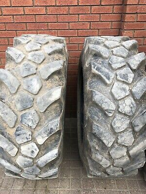 used tractor tyres 15.5-25 JCB Site Master X2.