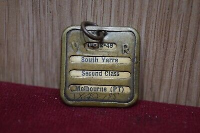 RARE Vic Rail Monthly Yearly South Yarra Melbourne Second Class Train Ticket