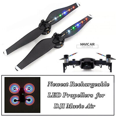 2 Pcs LED Flash Propeller Night Flying usb charge For DJI Mavic Air Accessories
