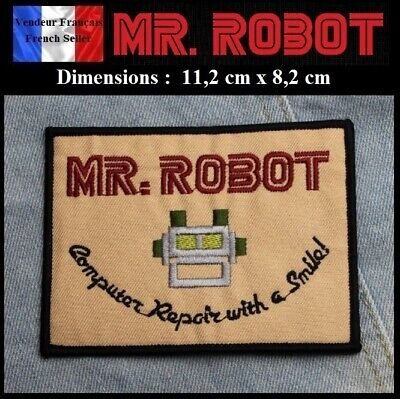 Écusson Brodé Thermocollant NEUF ( Patch Embroidered ) - Mr. Robot