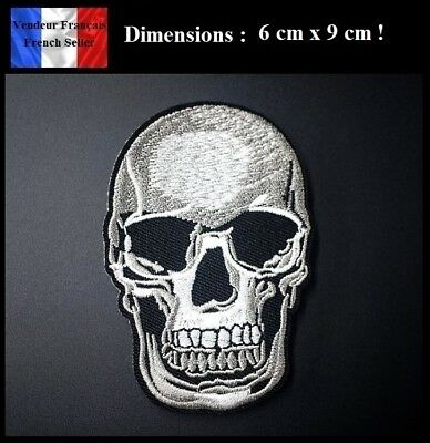 Écusson Brodé Thermocollant NEUF ( Patch Embroidered ) - Tête de mort Skull (A)