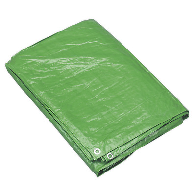 Sealey Tarpaulin 5.49 x 7.32m Green TARP1824G - 5 YEAR WARRANTY