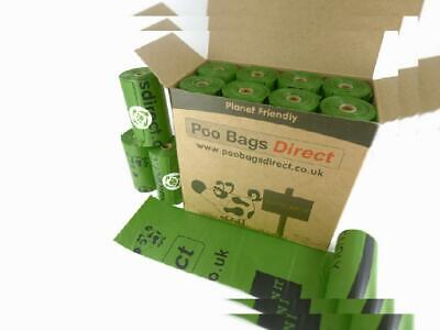 PooBagsDirect Dog Poo Bags On A Roll Green Large - 230 x Length 330 mm