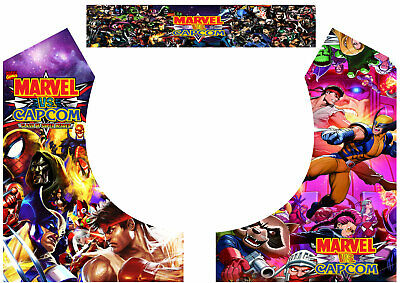 Multicade Marvel Vs Capcom Bartop Arcade Art Arcade Cabinet Graphics Marquee