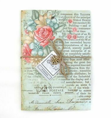 Vintage Flowers A5 Notebook Notepad   Journal Diary Jotter Pad   Plain Pages