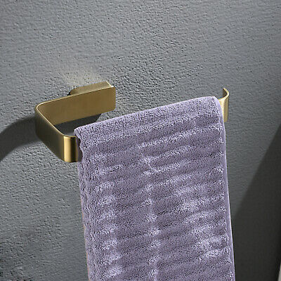 4 Piece Bathroom Hardware Set Robe Hook Paper Holder Towel Rail, Brushed Gold