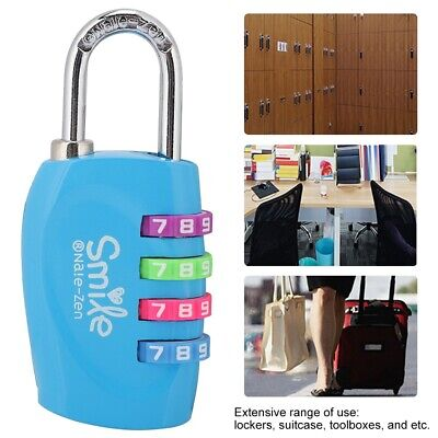 TSA 4 Digit Combination Security Lock Travel Suitcase Luggage Code Lock Padlock