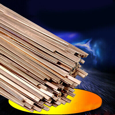 10pcs 3x1.3x400mm Low Temperature Flat Soldering Rods For Welding Brazing R.
