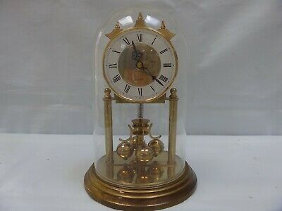 Vintage ACCTIM 400 Day Torsion Anniversary Dome Clock Haller Quartz  West German