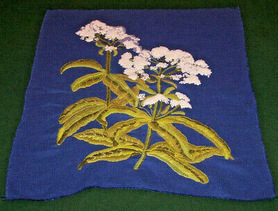 """STUNNNING LARGE FLORAL CREWEL PANEL, FRENCH KNOT EMBROIDERY,  25"""" X 21"""", c1970"""