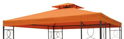 Pavillon Ersatzdach PVC - terracotta 3x3 m wasserdicht - Pavillon Dach orange